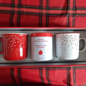 David's Tea Rustic Mug Set with 2 Mugs and Tea